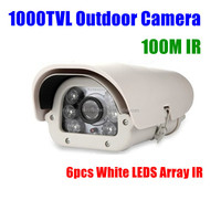 1000TVL HD Long range 100m array IR day night white light leds cctv security Outdoor waterproof Video camera