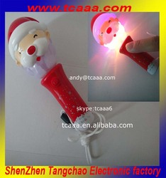 Top selling Father Christmas lights led stick for christmas decorations
