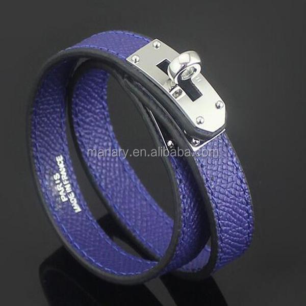 Vente en gros Mode personnalisé en acier inoxydable Superstar bijoux accessoires bracelet en cuir femmes