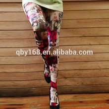 Summer sexy ladies leggings customized printing pantyhose