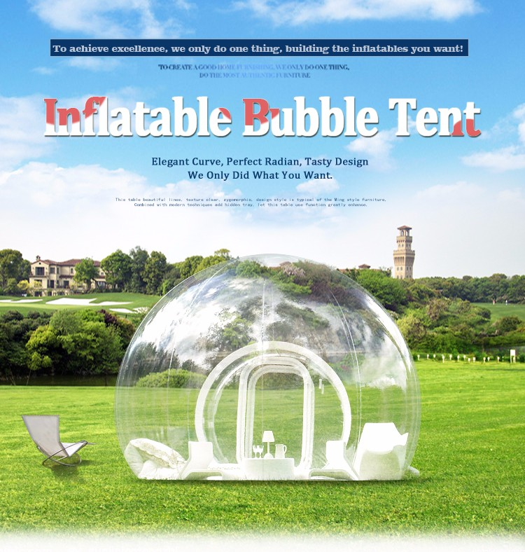 2016 populaire transparent bulle tente gonflable d me. Black Bedroom Furniture Sets. Home Design Ideas