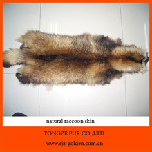 natural raccoon fur skin for garments, collars