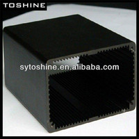 black anodized aluminum extrusion shell for electrocar battery
