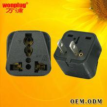 universal to two flat pins US plug