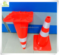 Wholesale 70cm height soft PVC flexible traffic reflective road cone