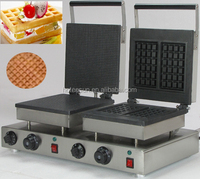 Hot Sale 2 in 1 Waffle Baking System 110v 220v Electric Commercial Ice Cone and Belgian Waffle Machine