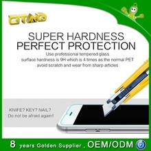 2014 new modern Smoothly touch 2.5D tempered glass screen protector for iphone 6 with anti-fingerprint