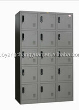 Supermarket euipment outdoor furniture 15 door stainless steel locker for storage