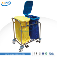 Hot sale good price Stainless steel linen hospital laundry trolley