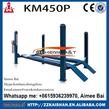 KM450P used home garage car lift 4 post parking car lift at low cost in 2016