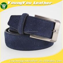 2015 hot sale man fashion blue genuine leather belt for jeans