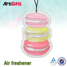 Custom cheap black ice scent paper car air freshener factory cheap price