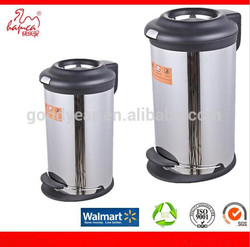 Beat Sale Household Dustbin! Stainless Steel Trash Can Round Shape Foot Pedal Bin With Metal Base From China Goodyear