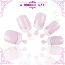 Factory direct sale good quality classical silver line french nail tips