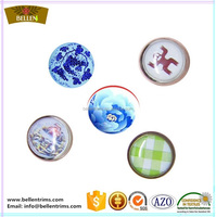 Metal pearl snap fasteners for clothing
