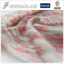 Jiufan Textile Cut & Sew Yarn Dyed Polyester Rayon Fleece Fabric For Sweater