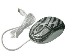 Sparkle crystal personalized decorative wired mouse