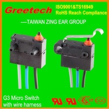 40t85 mini waterproof micro switch, hook lock door switch for electric car for disable