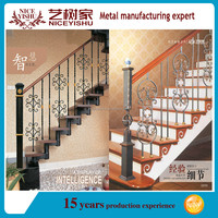 Outdoor or indoor used wrought iron stair railing