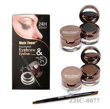 Music Flower 4 in 1 Eye Brow Powder Eyeliner Cream /Long Lasting Makeup Waterproof Eyeliner