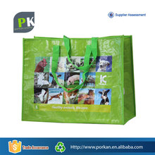 Waterproof PP Woven Beach Tote Bag with Button Closure