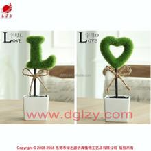 Christmas decorative artificial moss letters decoration