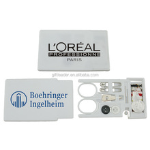 Promotional Plastic Credit Card Sewing Kit Set