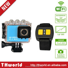 """2015 Best 2""""inch AT200 Sport Camera WIFI FULL HD MINI Action Camera with waterproof case remote"""