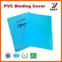 Transparent blue rigid thick plastic sheet book cover