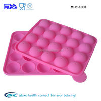 Food grade microwave, oven safe 20 holes silicone lollipop mould