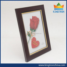 "4""*6"" inches dark red with golden edge picture frames high quality in cheap price"
