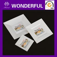 ES00 disposable cheap square decorative plastic plates