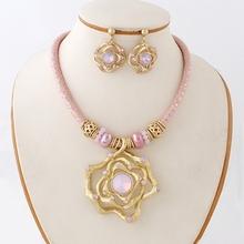 European hot sale engagement necklace set, gorgeous fashion jewelry sets