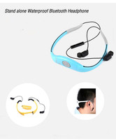 Tayogo Stand Alone Waterproof MP3 Player Headset Style For Sports Swimming 4G blue&gray