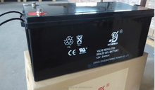 UPS battery 12v200ah solar battery, lead acid battery manufucturer in China