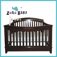 EU Safety Standard Wooden Convertible Adult Baby Cot/Crib