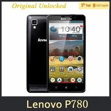 100% New Original Lenovo P780 phone 5.0 inch MTK6589 Quad Core 1.2GHz 8.0MP Bluetooth WIFI GPS 4000mAh multi-language