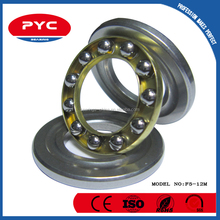PYC Top Quality Mini Thrust Ball Bearing F5-12M Match Size 5*12*4