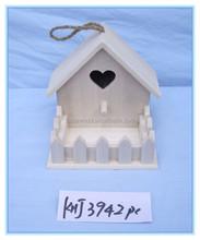 home decor christmas craft wooden bird house