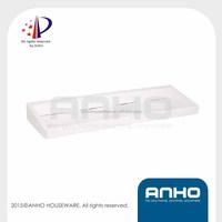 ANHO Patent Wall mounted white Plastic bathroom shelf, single layer
