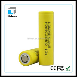 high drain LG he4 battery 2500mAh 35Amps 3.7V 18650 li-ion best price rechargeable batteries