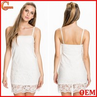 Elegant spaghetti strap lace sexy nighty dress picture for women