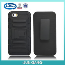 for iphone 6 sidelong kickstand robot case silicon and PC material