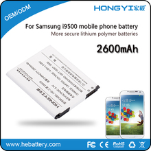 Cheap Factory Price High Quality Rechargeable Lithium 2600mAh Backup Mobile Phone Battery Replacement for Samsung i9500 s4