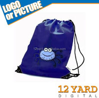 Promotional Gym Backpack, with Sublimation Printing, for sport gift Drawstring backpacks