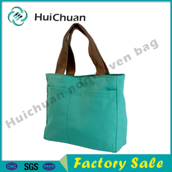 Recycled plain promotional canvas tote bag