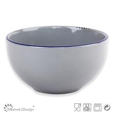 13.8cm antique brushed gray color bowl/Dinnerware/tableware