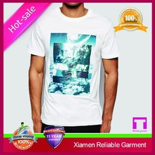 Hot sale custom 100% preshrunk cotton t-shirts from China supplier OEM