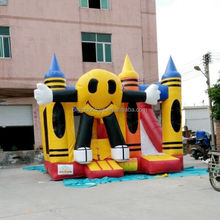 2015 hot kids smile inflatable castle, inflatable bouncy castle, inflatable jumping castle