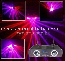 double tunnel red&purple night laser disco lighting